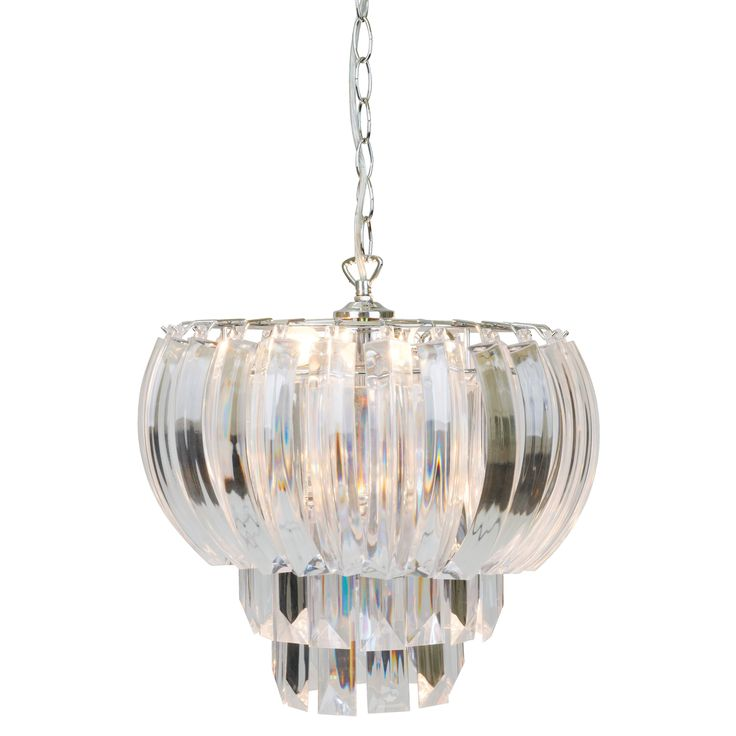 #LauraAshleySS14 Aria Clear Layered Swag Ceiling Light. Love this! Bought this for my Victorian living room, just the right size for the high ceiling. Adds glamour to the room. Elegant in daylight and sparkling at night!