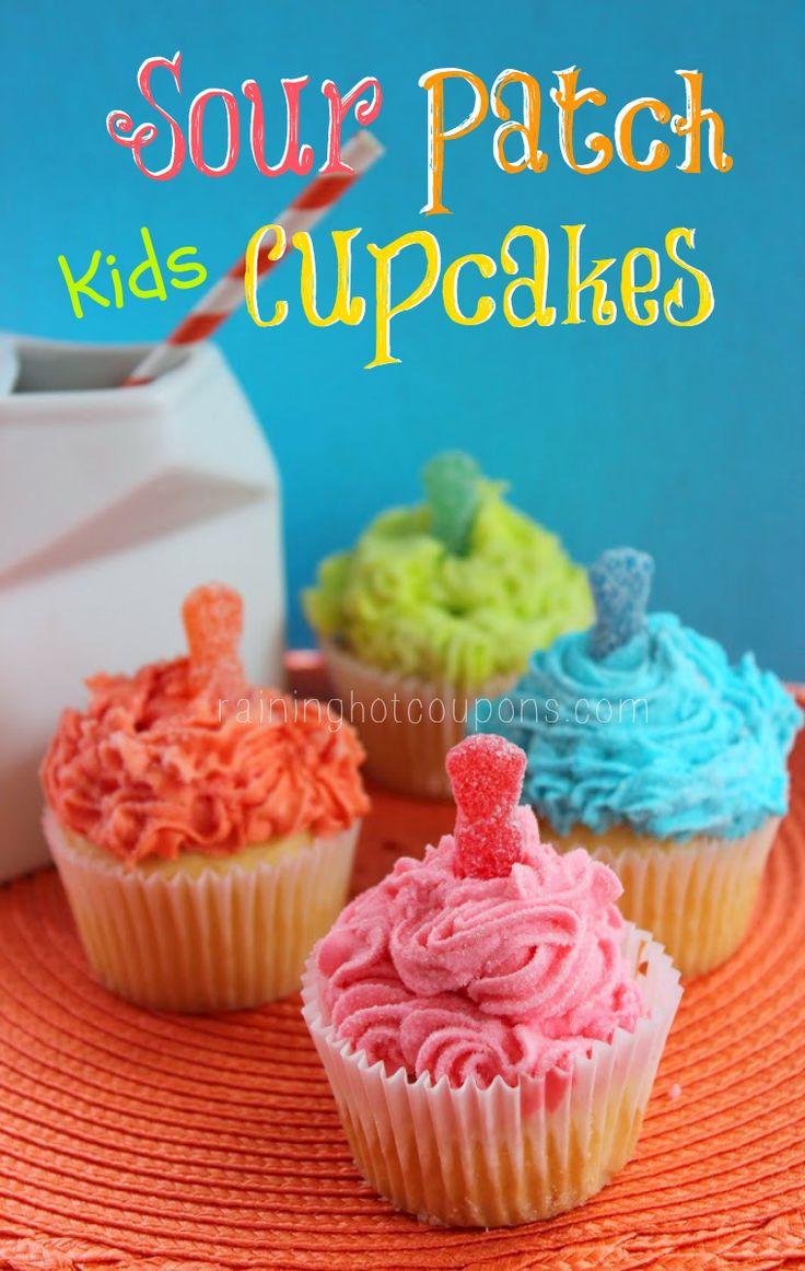 Sour Patch Kids Cupcakes