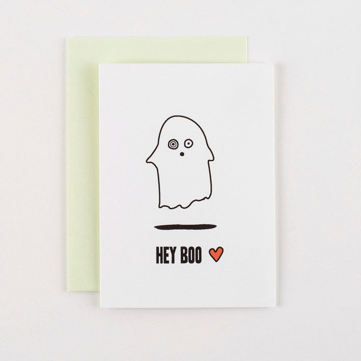 Copy of ILootpaperie: Hey Boo Valentine's Love and Halloween Greeting Card