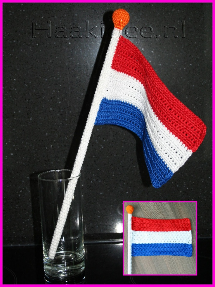 Haakidee: Ik hou van Holland: Haakpatroon Vlag