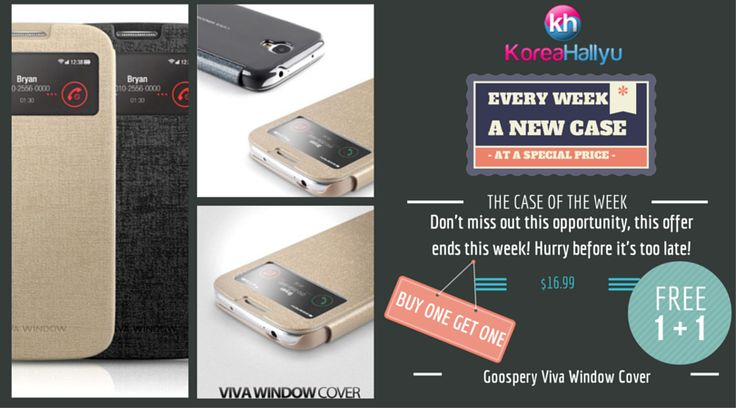 """1 + 1 BUY ONE GET ONE FREE The Star of """"The Case of the Week"""" is a fashionable view cover from Goospery. For only $16.99, get 2 (1+1) stylish cases to prot"""