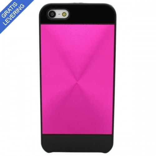 iPhone 5/5S Hybrid Cover I Sort/Pink