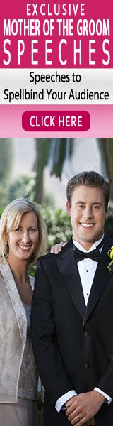 Mother of the groom speeches