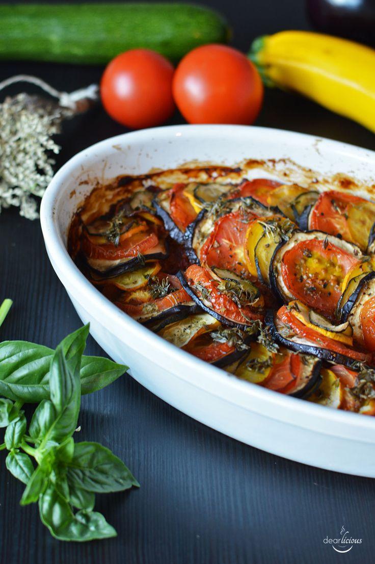 Rezept fürr veganes Ratatouille aus dem Ofen   www.dearlicious.com