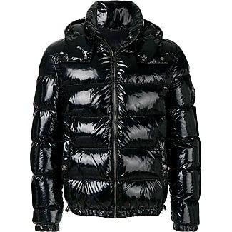 Versace patent-look puffer jacket - Schwarz