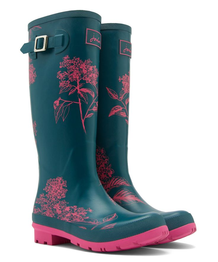 Take a look at this Pink Hydrangea Welly Rain Boot - Women today!