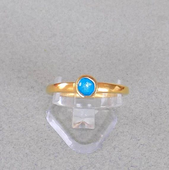 GOLD ENAMEL RING/ stackable ring/ gold plated ring/ christmas