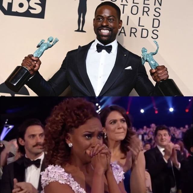 "Congrats to Sterling K. Brown on becoming the first African American male to win a Screen Actors Guild (#SAG) award for Outstanding Actor in a Drama Series for his role as Randell Pearson in Join us as we Influence Uplift and promote black culture! www.sofydecor.com ""This Is Us"""