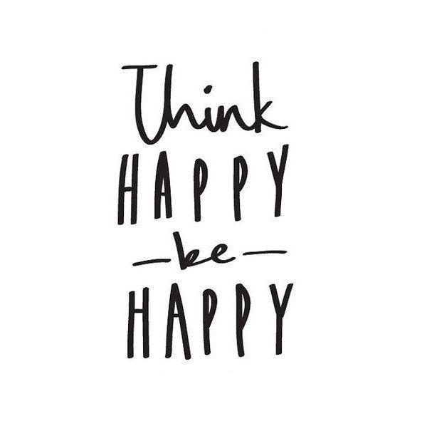 Think happy, be happy www.instawall.nl