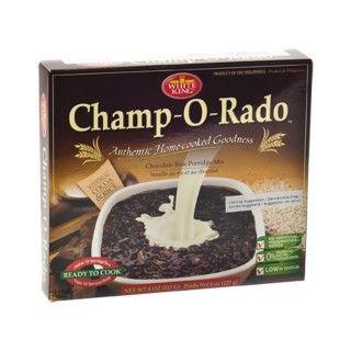 #Champ-#O-#Rado #Chocolade-#Rijstepapmix  Champ-O-Rado is een Filipijnse rijstebrij met een puddingachtige consistentie en een lekkere chocoladesmaak. Deze rijstepap behoort tot een van de traditionele Filipijnse ontbijtspijzen en wordt vaak samen met gedroogde en gezouten vis gegegeten. https://www.asianfoodlovers.nl/producten/desserts/champ-o-rado-chocolade-rijstepapmix-113-gram #AsianFoodLovers