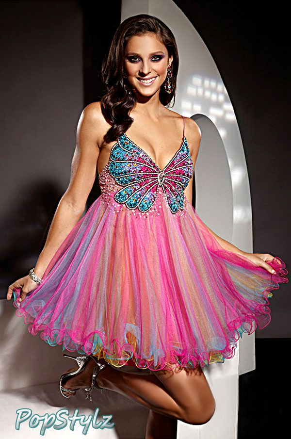 Terani Couture Babydoll Dress