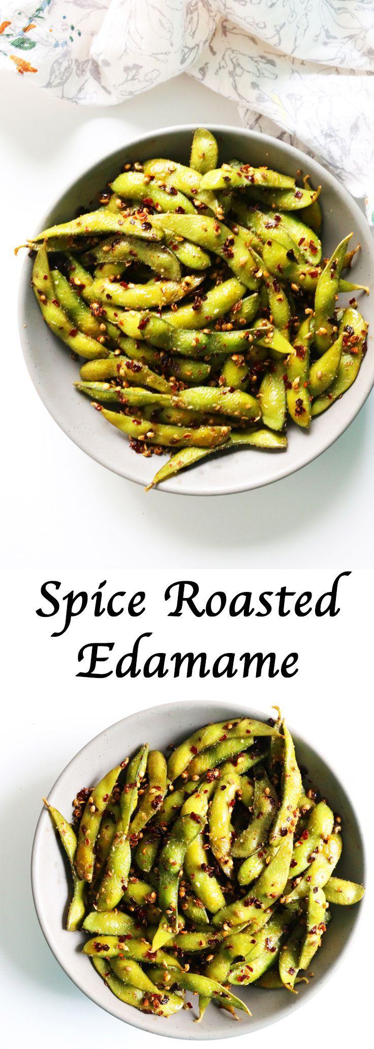 SpiceRoasted Edamame Roasted edamame, Indian food