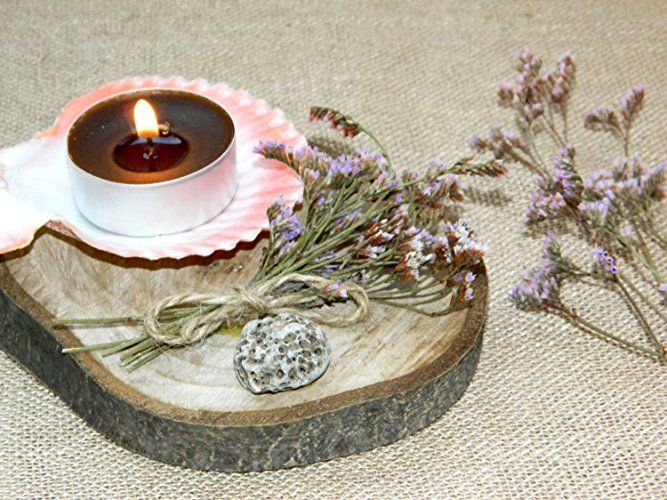 Wood tea light centerpiece rustic wedding candle holder luminary candlestick Rustic decor Beach wedding lighting wedding decor Cottage Floral decor Flower candle Nautical decor Wedding party favor