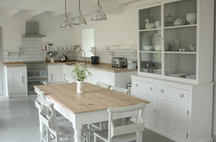 Kitchen at Upcott Farm (shelves with brackets instead of wall cabinets)