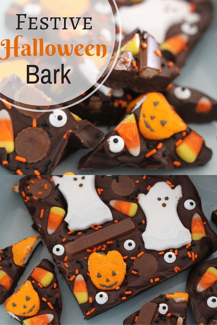 Festive Halloween Bark- Sweet Emelyne's