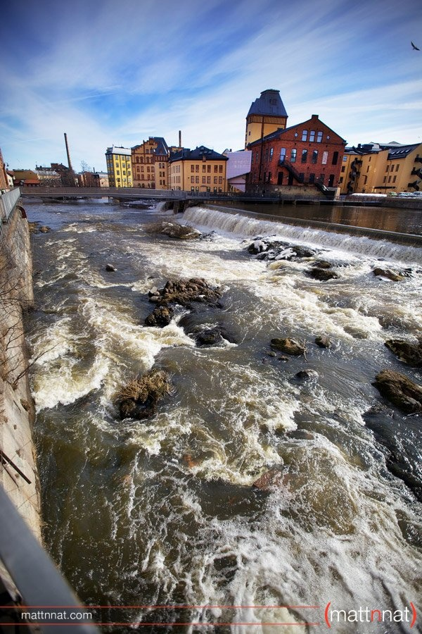 The Industrial Landscape, a preserved heritage site, next to my home. In the past Sweden's Manchester with cotton/wool mills. Today university, enterprises, museums, tourist office, visual center, restaurants, and more. Norrkoping Sweden
