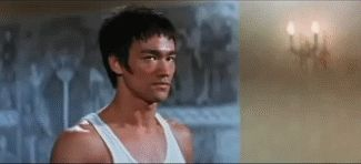 The high kick of Bruce Lee