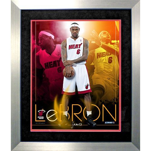 LeBron James Miami Heat Team Colors Composite Vertical Framed 16x20 Collage - . Gifts > Licensed Gifts > Nba > Cleveland Cavaliers. Weight: 4.00