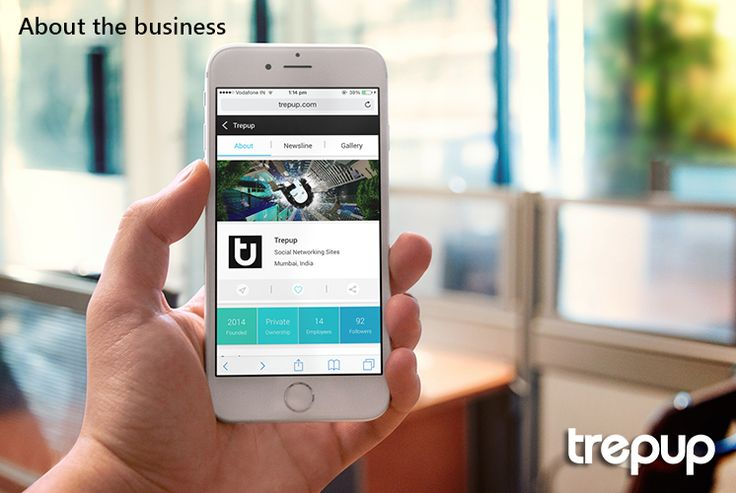 Everything the world needs to know about your business deserves to be on the About section which just got better on Trepup. trepup.co/1IMvzGU