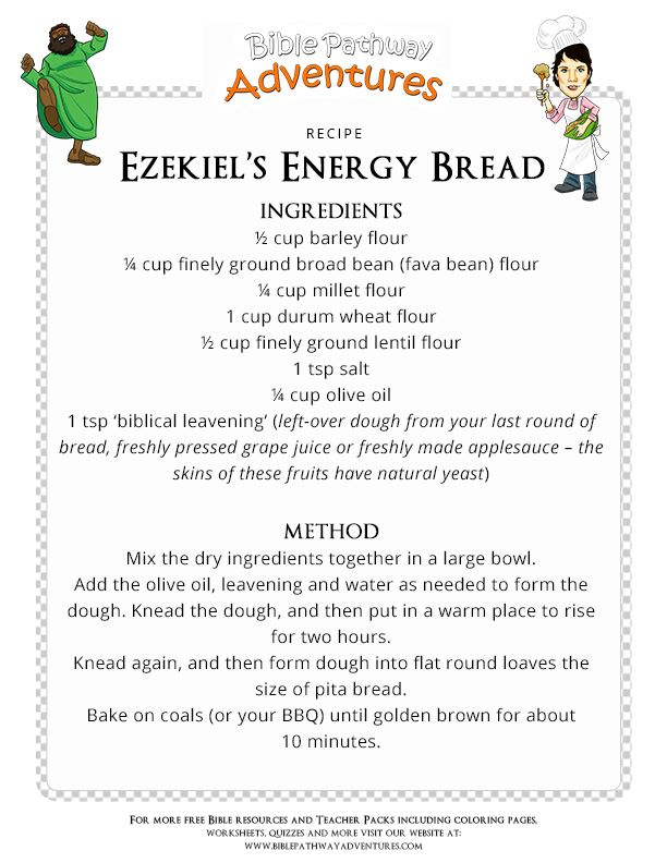 Bible Recipe for Kids: Ezekiel's Energy Bread