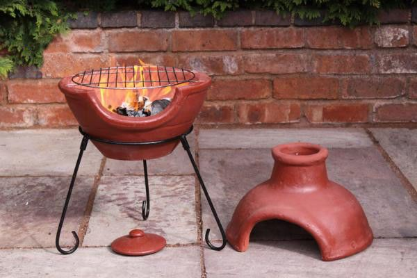 Clay Fire Pit Barbeque