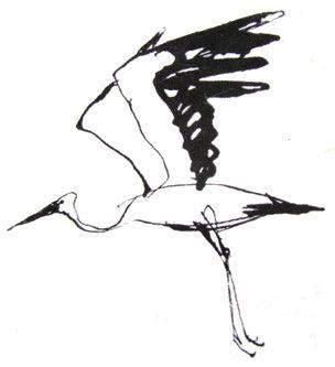 georges beuville stork Illustration