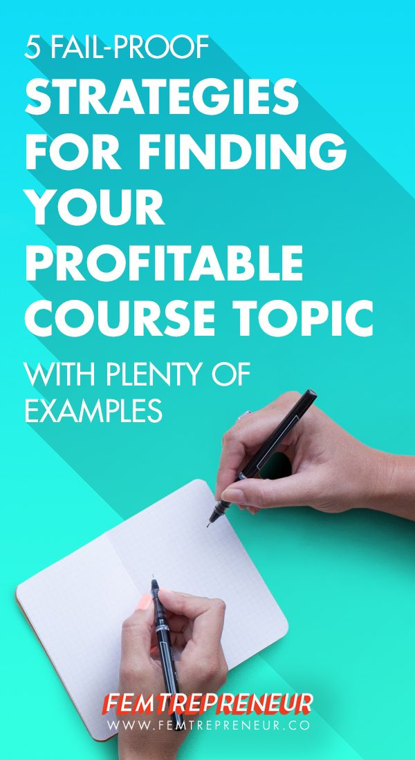 Do you want to sell an online course but you're stuck on what it should be about? This blog post is for you! Mariah is breaking down her 5 fail-proof strategies for finding your profitable course topic (with plenty of examples too!)