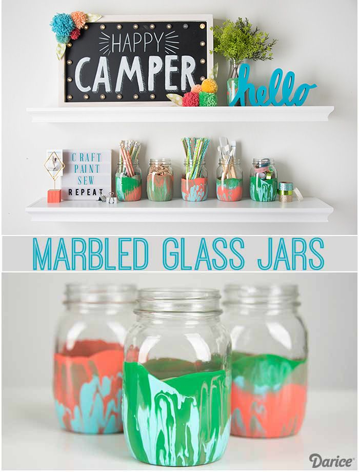261 best craft inspiration techniques images on for How to paint glass jars
