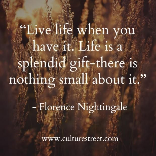 Culture Street | Quote of the Day from Florence Nightingale