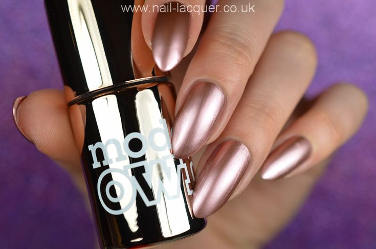 Models Own - Chrome Rose - swatched by Nail Lacquer UK
