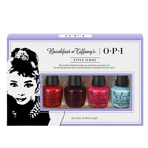 Buy OPI Breakfast At Tiffany's Style Icons 4 Mini Nail Lacquer Pack Online at johnlewis.com