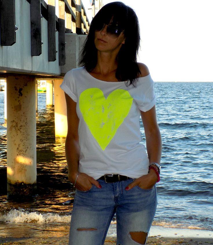 serce - żółty neon  akcreativo.shoppy.pl