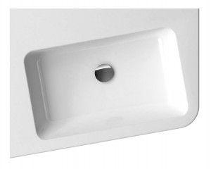Ravak umywalka 10° 550 L white z otworami XJIL1155000