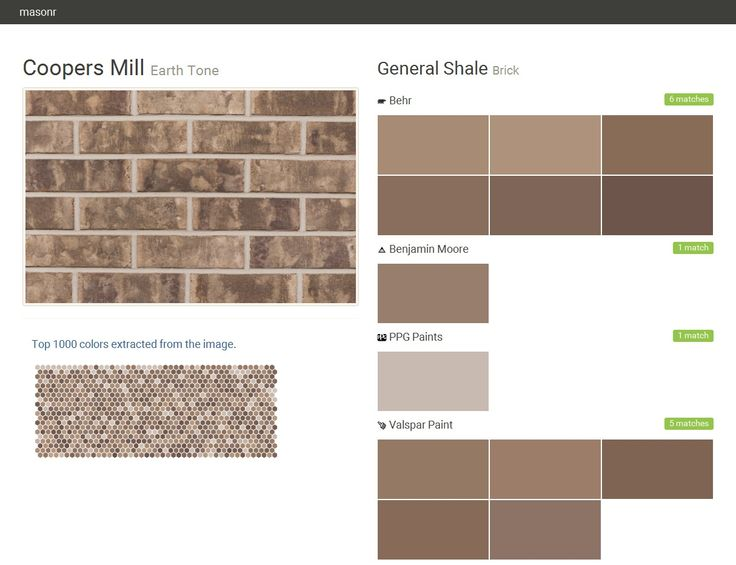 Coopers mill earth tone brick general shale behr for Coopers mill