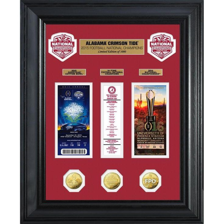 Highland Mint Alabama 2015 College Football National Champions Deluxe Coin &Ticket Collection
