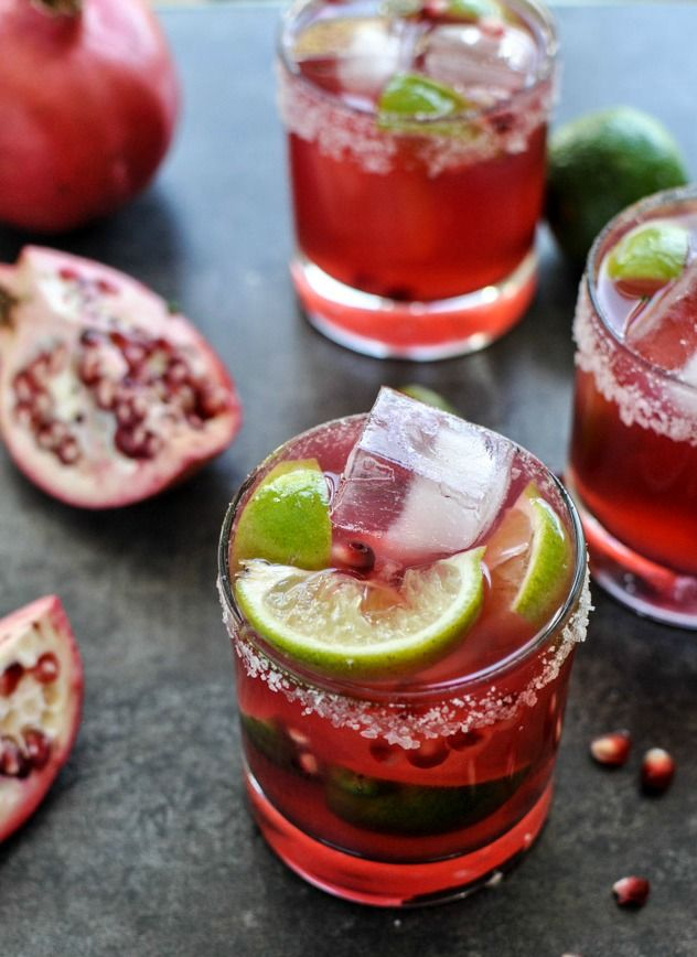 Pomegranate Margaritas -- perfect for the holiday season!