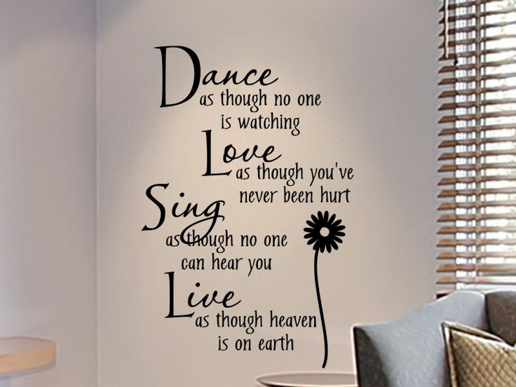 Wall decals for teens girls bedroom wall decal dance as for Room decor ideas quotes