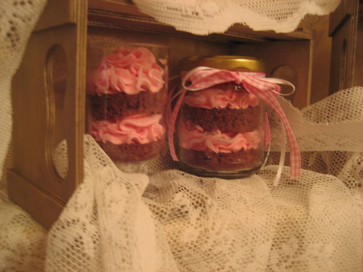 """Βάπτιση με γλυκάκι..cupcake in a jar """"or"""" in a glass!!"""