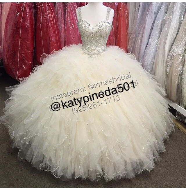 Morilee Vizcaya Quinceanera Dress #89054  Two toned Ruffled tulle with beading *Removable Beaded Shoulder Coverlet*  Colors: Fushia/Nude, Capri/Nude and White/Nude