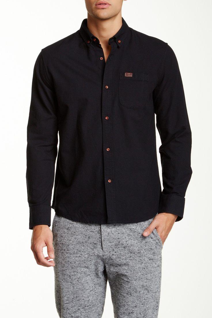 Marshall Artist Classic Oxford Shirt: Navy