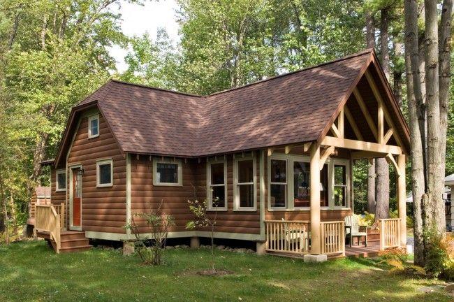 HappyModern.RU | Виниловый сайдинг под бревно (36 фото и цены): эффектный внешний вид загородного дома | http://happymodern.ru