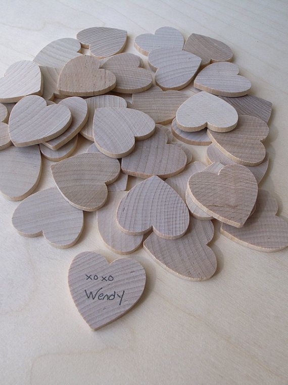 Guest Book Alternative (100 hearts)    Our wooden keepsake box is a great alternative for a guestbook! Each guest will get to sign a wooden