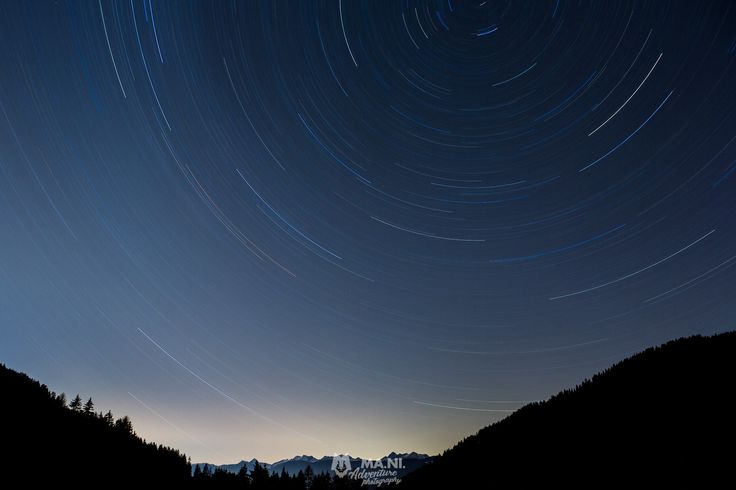 Dolomites by night - Long exposure in the Dolomites.