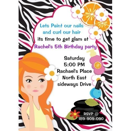 44 best Spa Labels Invitations images – Spa Party Invitation Template
