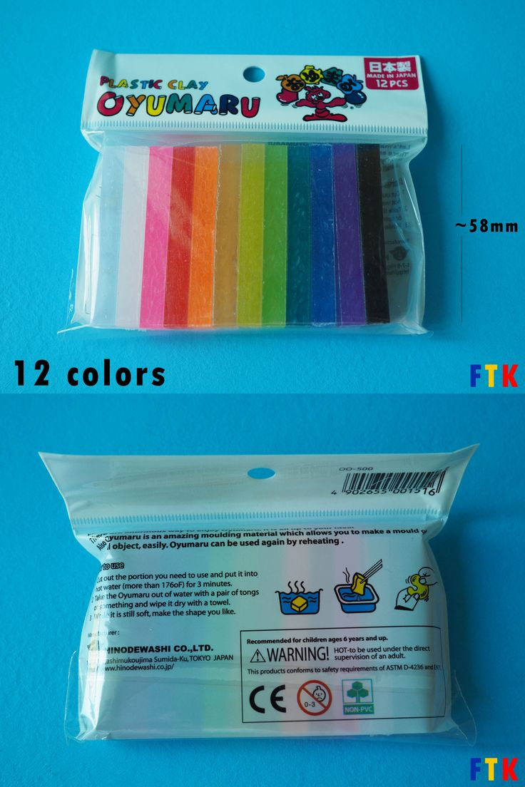 Ready-Made Molds 150133: Oyumaru Reusable Molding Stick (Same Usage As Instant Mold) - 12 Colors Pack -> BUY IT NOW ONLY: $48 on eBay!