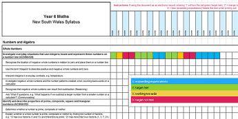 NSW Syllabus Year 6 Mathematics Tracker Assessment Tracker -  Mathematics Assessments, NSW Syllabus Year 6 Mathematics Tracker  Assessment Tracker  Australian, N