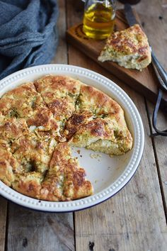 Knoblauch Pfannen Brot Garlic Pan Bread