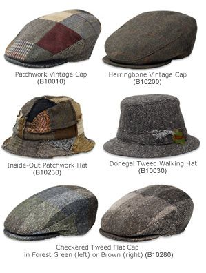 http://www.gaelsong.com/product/7175/accessories-irish-hats  I already have a lovely flatcap. I'm eyeing the Donegal Tweed Walking Hat.