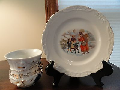 Antique German Christmas Santa Plate and Cup & 156 best Dishes images on Pinterest | Vintage dishes Vintage ...