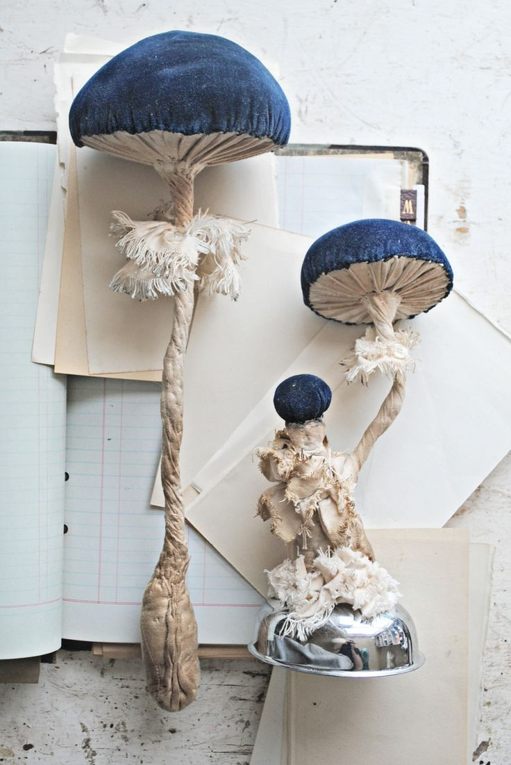 Textile Toadstools By Mister Finch//